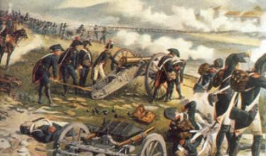 Artilleria Napoleonica contra el ejercito austriaco